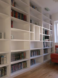 Fitted bookshelf unit joiner Leeds