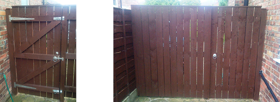 Garden gate and fence by JL Joinery in Leeds