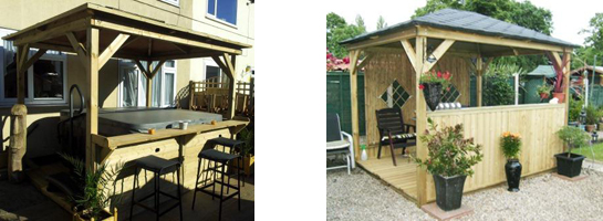 Bespoke gazebo for garden Leeds